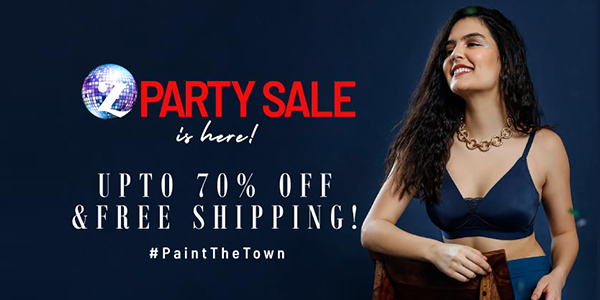 Up to 70% off on zivame z-party sale
