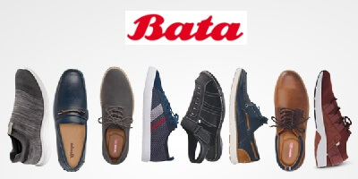 Get up to 70% off <br> on footwears at bata