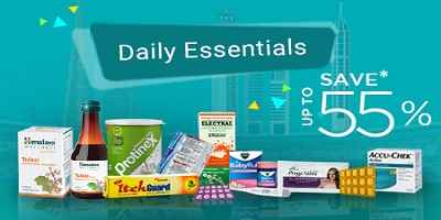 Save up to 55% on<br>Daily essentials at Netmeds