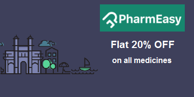 Get 20% off on <br>all medicines at pharmeasy